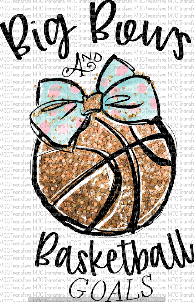 BIG BOWS AND BASKETBALL GOALS (SUBLIMATION)