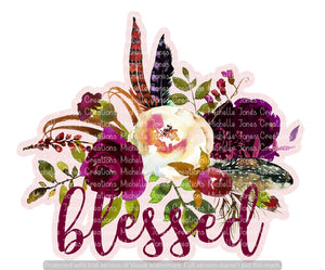 FLORAL BLESSED (SUBLIMATION)