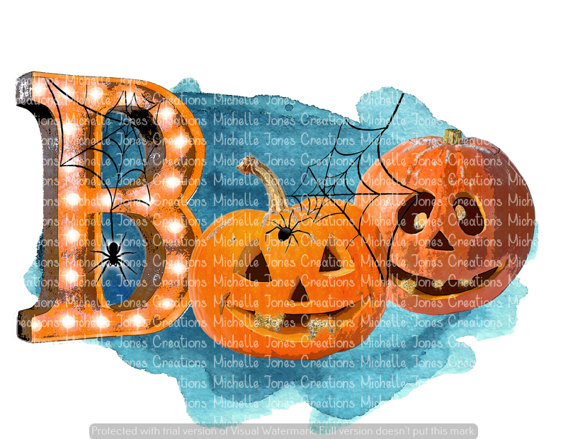 BOO WITH PUMPKINS (SUBLIMATION)