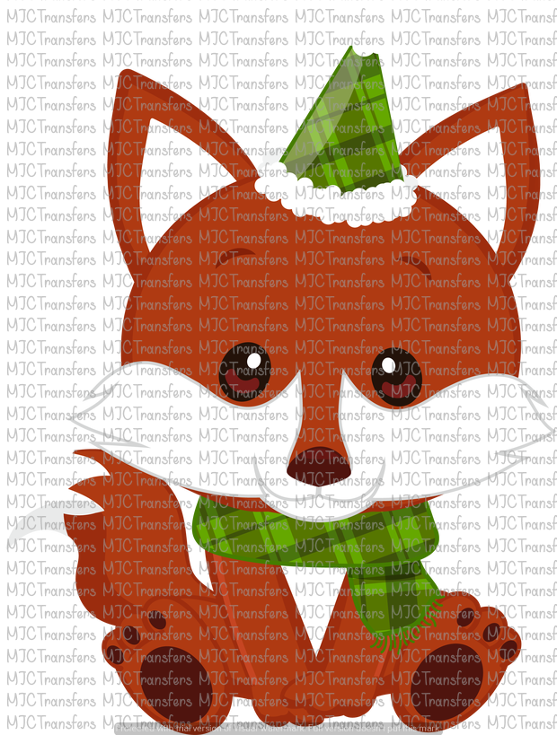 CHRISTMAS FOX (SUBLIMATION)