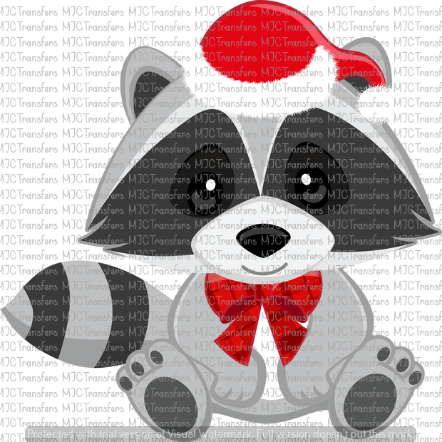 CHRISTMAS RACCOON (SUBLIMATION)