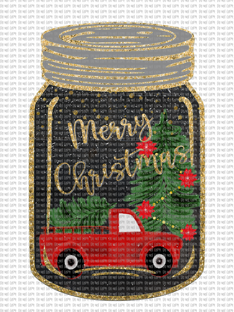 CHRISTMAS CANNING JAR 3 (SUBLIMATION)