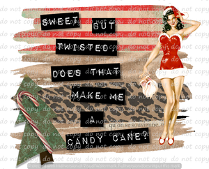 SWEET BUT TWISTED -CHRISTMAS PINUP 8 (SUBLIMATION TRANSFER)