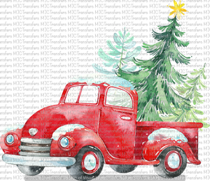CHRISTMAS TRUCK WITH TREE (SUBLIMATION)