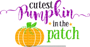 CUTEST PUMPKIN IN THE PATCH (SUBLIMATION)
