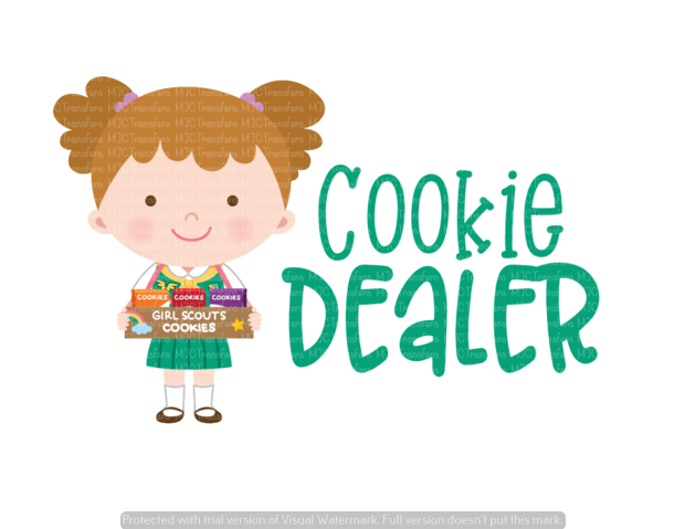COOKIE DEALER (BROWN HAIR (SUBLIMATION)