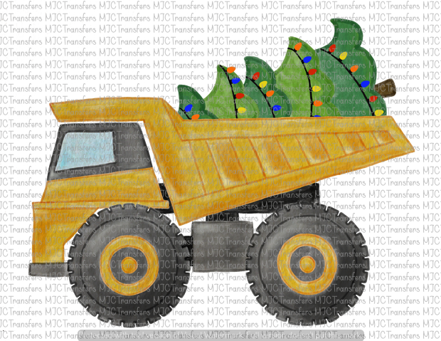 CHRISTMAS DUMP TRUCK (SUBLIMATION)