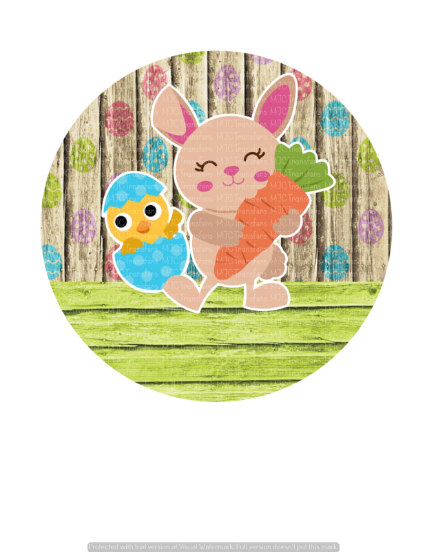 CHICK EGG WITH BUNNY CIRCLE (SUBLIMATION)