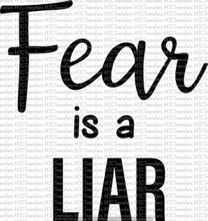 FEAR IS A LIAR (SUBLIMATION)