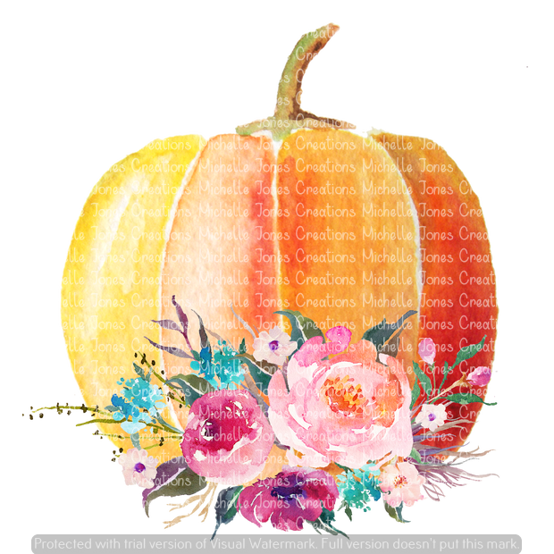 FLORAL PLAIN PUMPKIN (SUBLIMATION)
