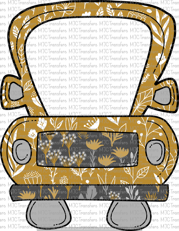 GOLD FLORAL TRUCK (SUBLIMATION)