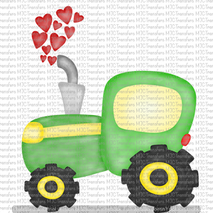VALENTINES TRACTOR (SUBLIMATION)