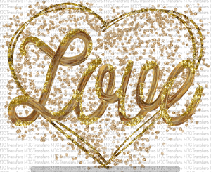 GOLD LOVE IN A HEART (SUBLIMATION)