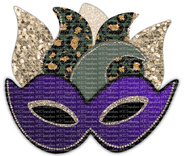 MARDI GRAS MASK (PURPLE) (SUBLIMATION)