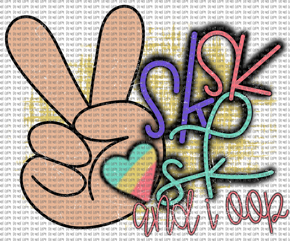 SK SK SK AND LOOP WITH PEACE SIGN (SUBLIMATION)
