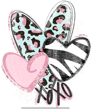 VALENTINES HEARTS (ANIMAL PRINTS) (SUBLIMATION)