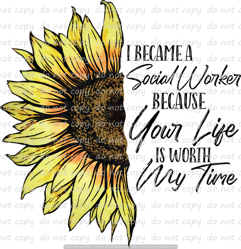 SOCIAL WORKER SUNFLOWER (SUBLIMATION)