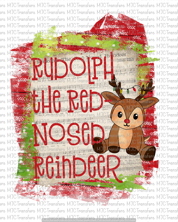 RUDOLPH THE RED NOSE REINDEER (SUBLIMATION)