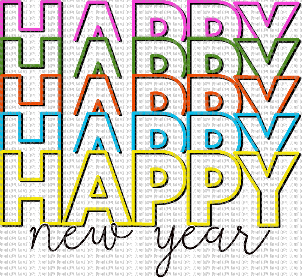 HAPPY HAPPY NEW YEAR (SUBLIMATION)