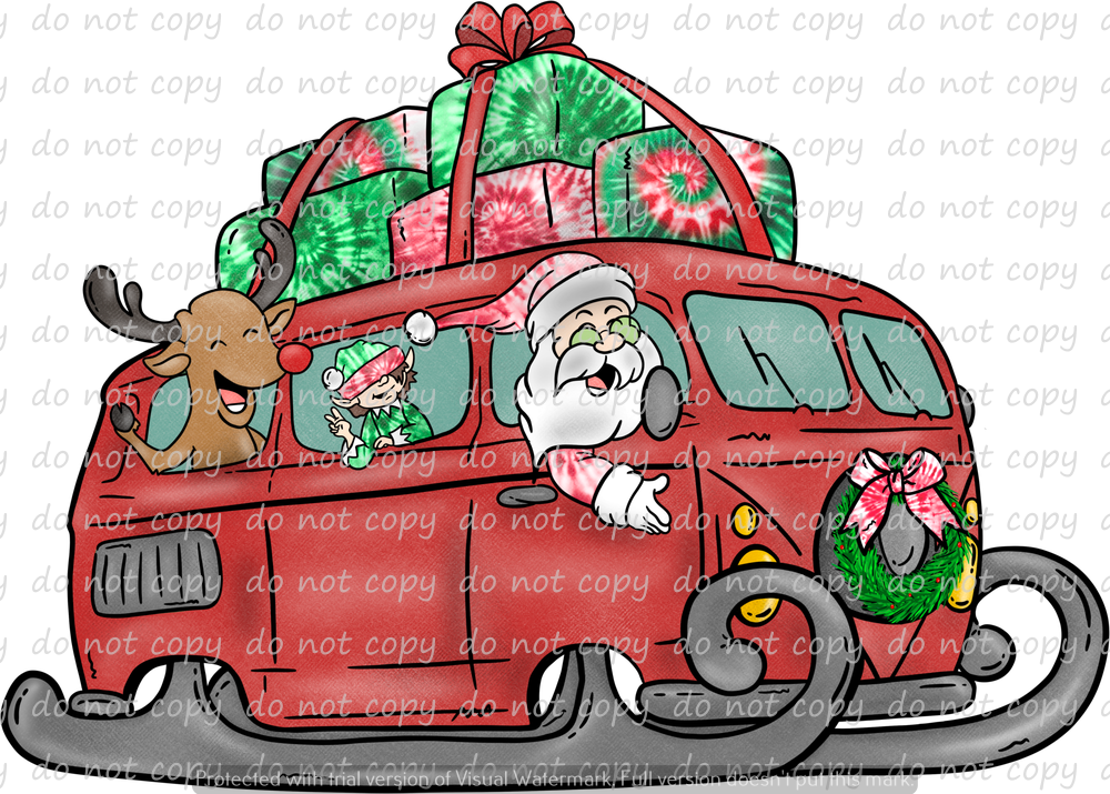 HIPPIE HOLIDAYS VAN (SUBLIMATION TRANSFER)