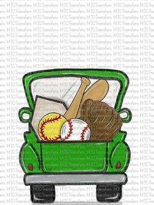 GREEN SOFTBALL/BASEBALL TRUCK (SUBLIMATION)
