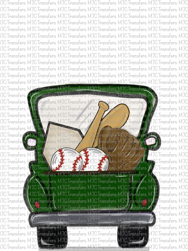 GREEN BASEBALL TRUCK (SUBLIMATION)