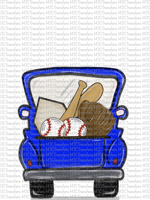 BLUE BASEBALL TRUCK (SUBLIMATION)