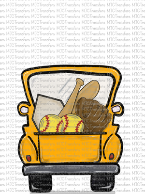 YELLOW SOFTBALL TRUCK (SUBLIMATION)