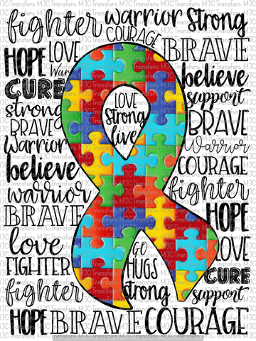AUTISM AWARENESS (SUBLIMATION)