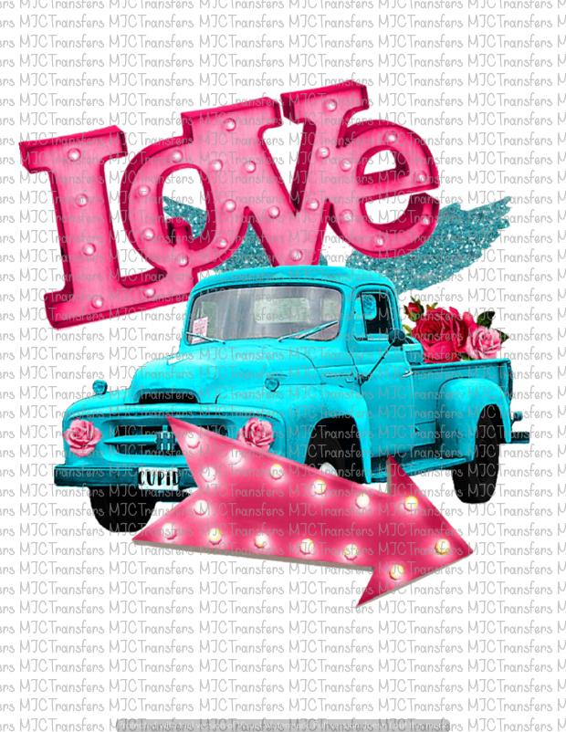 LOVE CUPID TRUCK (SUBLIMATION)