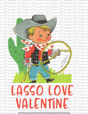 LASSO LOVE VALENTINE (SUBLIMATION)