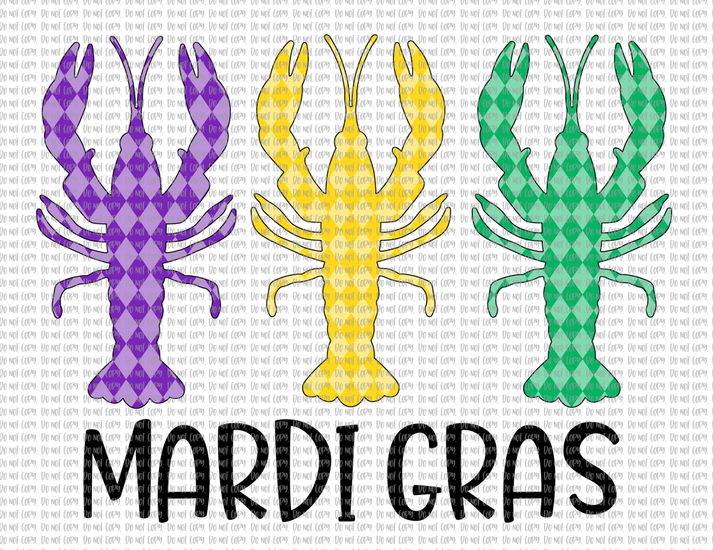 MARDI GRAS CRAWFISH (SUBLIMATION)