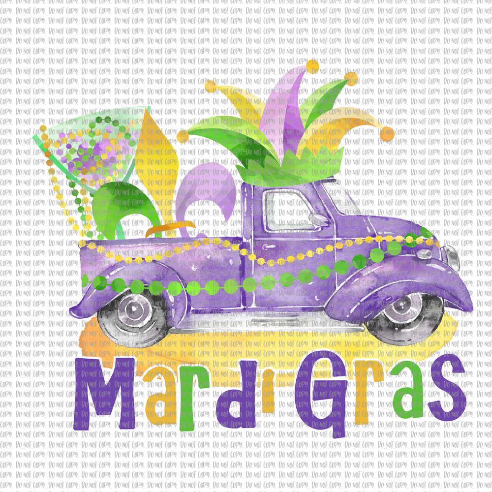 MARDI GRAS TRUCK (SUBLIMATION)