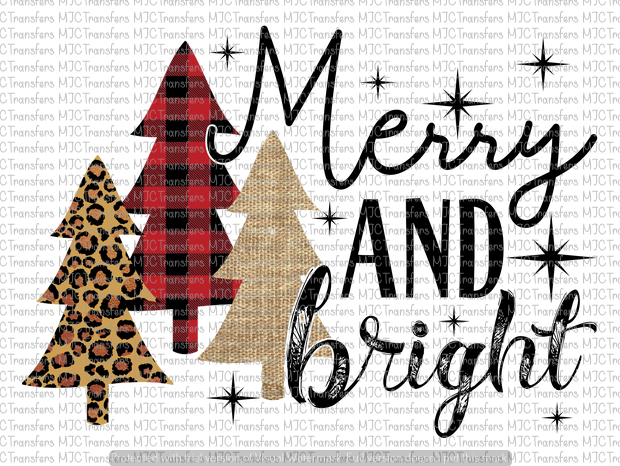 MERRY AND BRIGHT (SUBLIMATION)