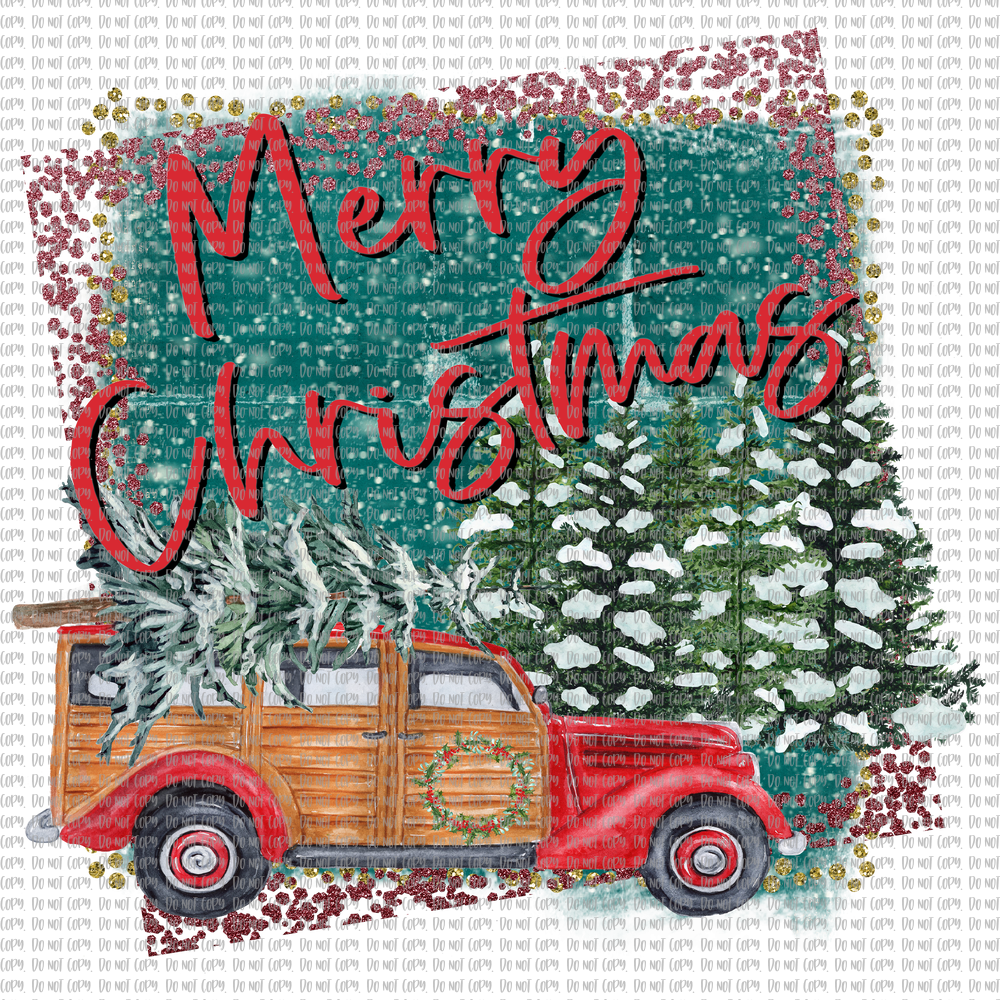 MERRY CHRISTMAS STATION WAGON (SUBLIMATION)