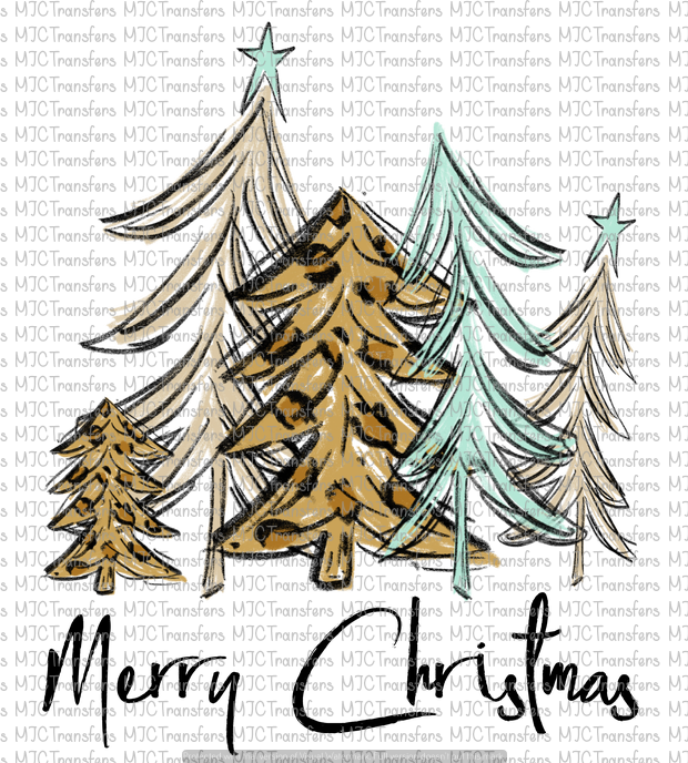 MERRY CHRISTMAS TREES (SUBLIMATION)