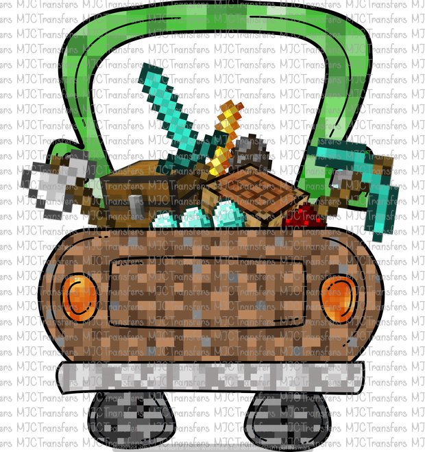 MINECRAFT INSPIRED TRUCK (SUBLIMATION)
