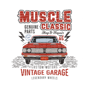 MUSCLE CLASSIC (RED CAR)