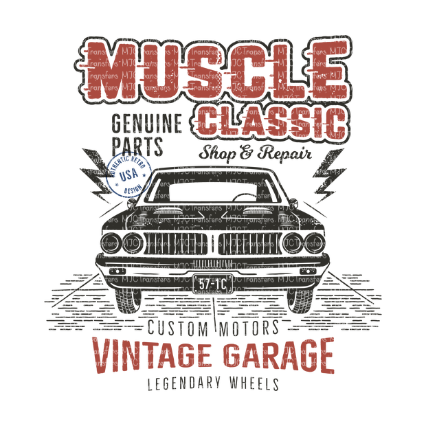 MUSCLE CLASSIC (BLACK CAR)