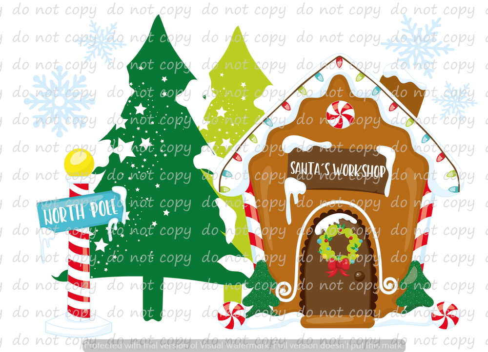 NORTHPOLE GINGERBREAD DREAMS (SUBLIMATION TRANSFER)