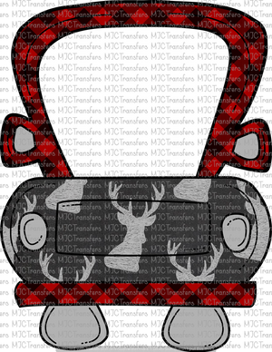 PLAID/DEER #2 TRUCK (SUBLIMATION)