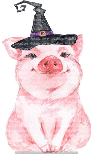 PIG WITH WITCH HAT