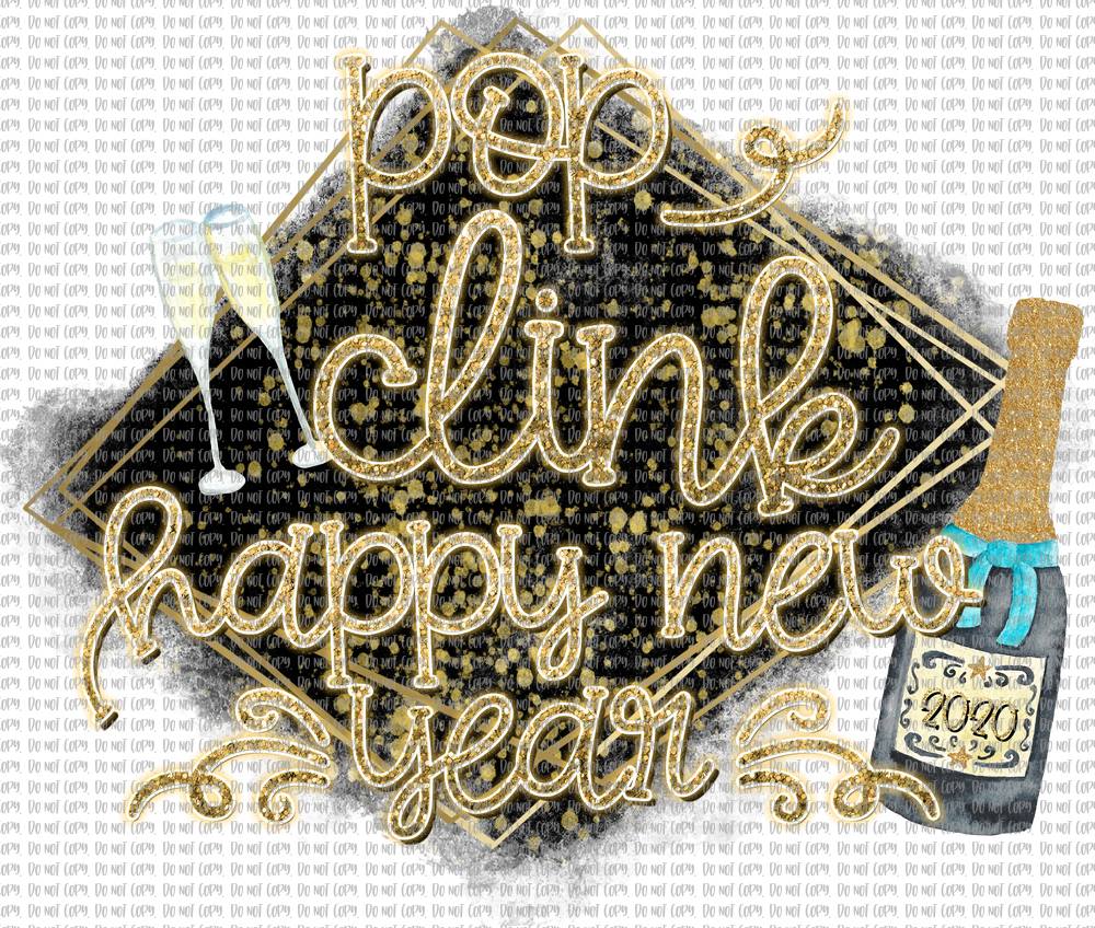 POP CLICK HAPPY NEW YEAR (SUBLIMATION)