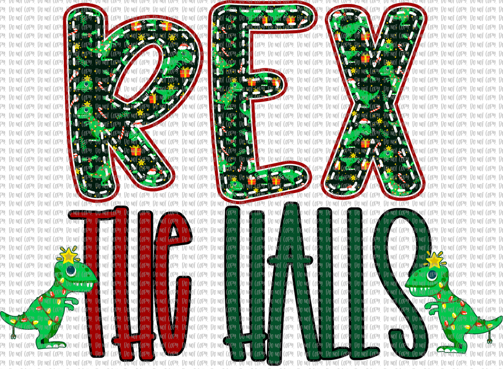 REX THE HALLS (SUBLIMATION)