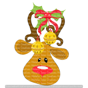 REINDEER WITH BELLS (SUBLIMATION)