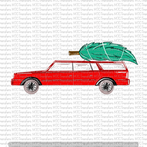 CHRISTMAS CAR WITH TREE (SUBLIMATION)