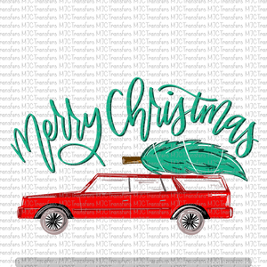 MERRY CHRISTMAS CAR WITH TREE V