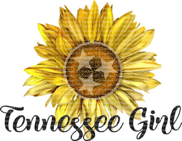 TENNESSEE GIRL WITH SUNFLOWER (SUBLIMATION)