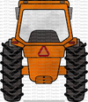 ORANGE TRACTOR (KEEP BLANK OR ADD NAME/ANIMAL)