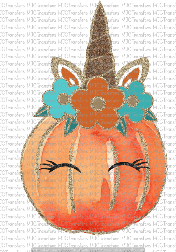 UNICORN PUMPKIN (SUBLIMATION)